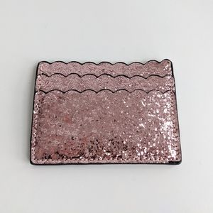 Poppy and Peonies Pink Sparkly cardholder